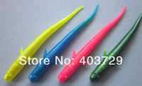 Soft Baits Yes Artificial Bait Free shipping 50pcs 10cm 3g fish type soft fishing lure plastic lure mixed 4 colors swimming perfect in water good quality