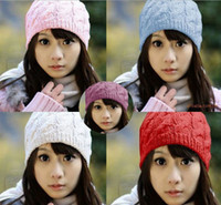 Wholesale Women Winter Knitted Crochet Beanie Hat Cap Colors