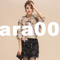 Unisex Women's spring coats - Cora spring fox fur women s short design fur coat