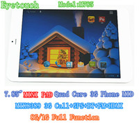 Wholesale ET inch MTK8389 G tablet PC quad core Dual Camera G G with g call gps bluetooth FM IPS HD screen android4 inch MINI PAD