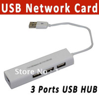Wholesale RJ45 USB Network Lan card Ethernet adapter With Ports USB HUB