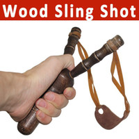 Wholesale Wrist Sling Shot Slingshot handman wood catapult Outdoor Hunting equipment High Velocity Brace