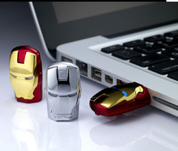 Wholesale Iron Man LED USB GB GB Leather USB Flash Drive Memory Stick Gold Red Silver Color LED Light