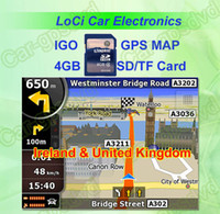 Wholesale The latest GB SD TF memory card with car IGO Primo GPS Navigator map for Ireland United Kingdom