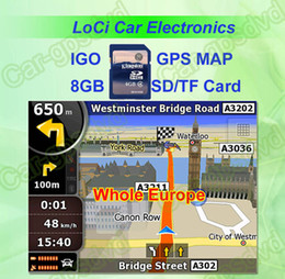 Free shipping! The latest 8GB SD TF memory card with car IGO Primo GPS Navigator map for Whole Europe