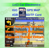 Wholesale The latest GB SD TF memory card with car IGO Primo GPS Navigator map for Thailand Indonesia Malaysia Singapore