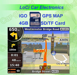 Free shipping! The latest 8GB SD TF memory card with car IGO Primo GPS Navigator map for Israel