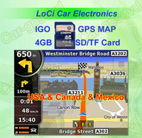 Wholesale The latest GB SD TF memory card with car IGO Primo GPS Navigator map for USA Canada Mexico