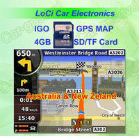 Wholesale The latest GB SD TF memory card with car IGO Primo GPS Navigator map for Australia New zeland