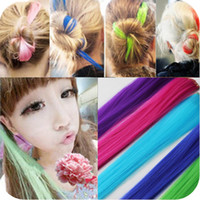 Wholesale At least shipping OH0008 punk bleaching fluorescence color streaked hair piece can be hot wig can be cut