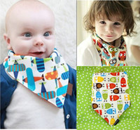 Wholesale Christmas Gift Hot Baby Bandana Scarf Bibs Feeding Clear Triangle Cotton Kid Head Scarf Infant Bibs Burp Cloths BB67