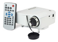 Wholesale New Multimedia Mini LED Portable Projector Cinema Theater Support PC Laptop VGA AV USB SD Input D3180B