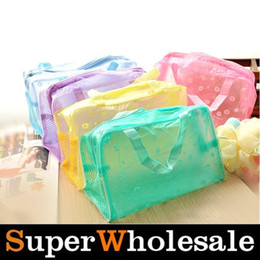 Wholesale Candy Color Women Lady Girl Travel Transparent Waterproof Cosmetic Make Up Sorage Bag Purse