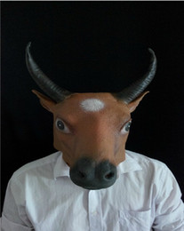 Wholesale Creepy Cow Mask Head Halloween Mask Cattle Mask