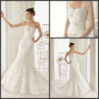 Trumpet/Mermaid Reference Images Strapless Inexpensive 2014 Mermaid Wedding Dresses Strapless Sweep Length Bridal Gown Sexy Wedding Gowns Free Get One Jacket