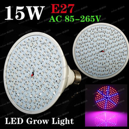 Led grow bleu ampoule en Ligne-LLFA3446 plus Récent de la culture hydroponique de l'éclairage 85-265V 15W E27 ROUGE BLEU 126 SMD LED Hydroponique LED Usine de led élèvent des Lumières d'ampoule de LUMIÈRE LED