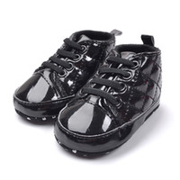 Wholesale retail baby boy black colour cool prewalker shoes PU material soft sole infant first walkers