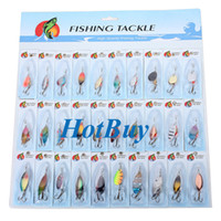 Wholesale Metal Fishing Lures Spinner Baits Crankbait Assorted Fish Hooks Tackle