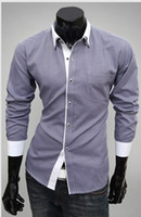 Formal white dress shirt for men - NEW Men s casual Slim long Sleeve Shirts Men s Entrance guard white shirts Dress Shirts For Men Business Shirts