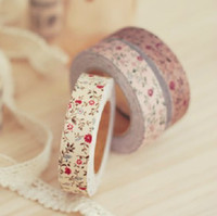 Wholesale Flower Printed Japanese Washi Fabric Cotton Tape Masking Tape Korean decor tapes cm meters
