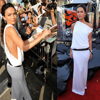 Reference Images Transformers Premiere One-Shoulder Megan Fox at the Transformer 2 Premiere with The Grecian Style Sheath White One Shoulder Floor Length Celebrity Dresses Dhyz 01