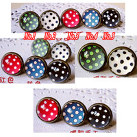 Stud Unisex Party Fashion DIY Earring Studs!!! Wholesale 60piece Stud Earring Jewelry with 12mm Specially Adorable Pattern Cameo Cabochons