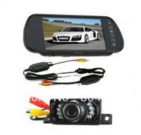 "Yes Wireless Plastic WIRELESS CAR REAR VIEW KIT 7"" LCD MIRROR MONITOR+IR REVERSING CAMERA 6LED"
