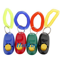 Wholesale Pet Dog Bird Cat Horse Button Click Clicker Training Obedience Aid Wrist Strap