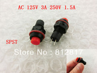 other   AC 125V 3A 250V 1.5A On Off SPST Momentary Red Round Push Button Switch