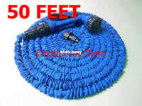 Timers & Controllers   Wholesale - (30pc lot) 50 Feet Expandable Hose Flexible Garden Irrigation Water Pipe USA EU Standard With Spray Gun