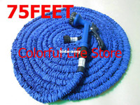 Timers & Controllers   Wholesale - (10pc lot) DHL FEDEX Shipping 75 Feet Flexible Expandable Water Hose For Garden Irrigation USA UK Standard With Spray Gun