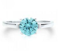 Religion Style aquamarine stone - Wedding Rings Stainless steel Aquamarine zircon wedding rings