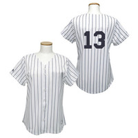 Wholesale Yankees Alex Rodriguez White Womens Fashion Baseball Jerseys with Black Strip High Quality Stitched Cheap Baseball Uniforms Kits for Sale