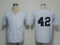 Wholesale Yankees Mariano Rivera White Home Jersey with Black Stripe Mens Sittched Baseball Jerseys without Player Name for Christmas Sale