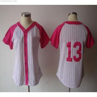 Wholesale 2013 New Womens Yankees Alex Rodriguez Baseball Jerseys Fashion White Pink Female Splash jersey Cheap Baseball Uniforms Shirts