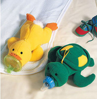 Wholesale baby glass milk bottles milk feeding bottle bag cartoon Turtle Duck feeding set