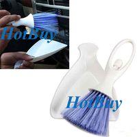 Wholesale 2 in Car Dashboard Vent Cleaning Brush Car Brush Scoop Dustpan Kit