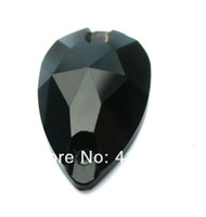 Wholesale sew on crystal rhinestone mm sew on glass beads in Jet black colour pear drop shape shiny stone