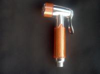Wholesale Women s Bathroom shattaf head bidets Muslim Shower sprayer High Plastic handheld diaper sprayer Shower head TS18 orange