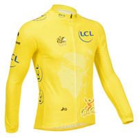 Full Breathable Men New 2013 Tour De France Cycling Clothing Long Sleeve Cycling Jersey Autumn Yellow Cycling Jerseys Free shipping