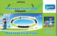 Wholesale plastic Magnetic Double Directions Hula hoop Volcanic magnets Detachable Massage Hula Hoop