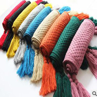 Wholesale Designer HMZARA Knitted Winter Scarves Imitation Wool Tassels Mix Color cm New Arrivals S2