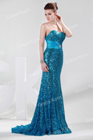 Model Pictures dress blue grace - Grace Karin NEW Sexy Shining Sequins Mermaid Evening Dresses Sweetheart Floor Length Formal Evening Gowns CL4409