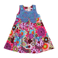 Wholesale H2500 Nova fresh stock y y baby girls denim dress casual comfortable floral dress kids clothes high quality fashion tank dress