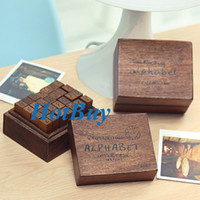 Wholesale 28pcs Upper Lower Case Alphabet Wooden Hand Writing Rubber Letter Stamp Stamper