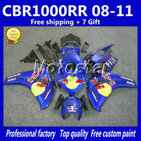 Wholesale Injection molding plastic fairings kit for HONDA CBR1000RR CBR RR black blue bodywork fairing set gifts Lr7