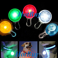 Wholesale LED Safety Night Light Pet Dog Puppy Collar Tags Circular Pendant Decor