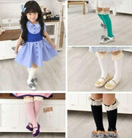 Wholesale Newest cute baby girl lace decorative border princess socks stocking pairs W343