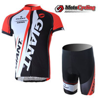 Wholesale Red Giant Cycling Jersey Sets Power By SRAM Breathable Summer Short Sleeve Tight Fitting Cycling Jersey and Riding Trousers