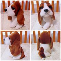 Farm Animals basset hound toys - Lovely Dog Stuffed Plush Animal Toy Freeshipping Little Basset Hound Dog Very Soft Vivid High Quality Cheap Sale